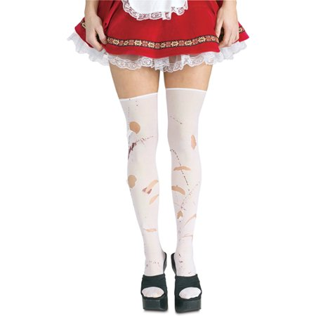 Malice in Wonderland Ripped Tights Stockings with Blood](Wonderland Prom Theme)
