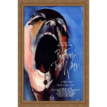 Pink Floyd The Wall 28X40 Large Gold Ornate Wood Framed Canvas Movie Poster Art