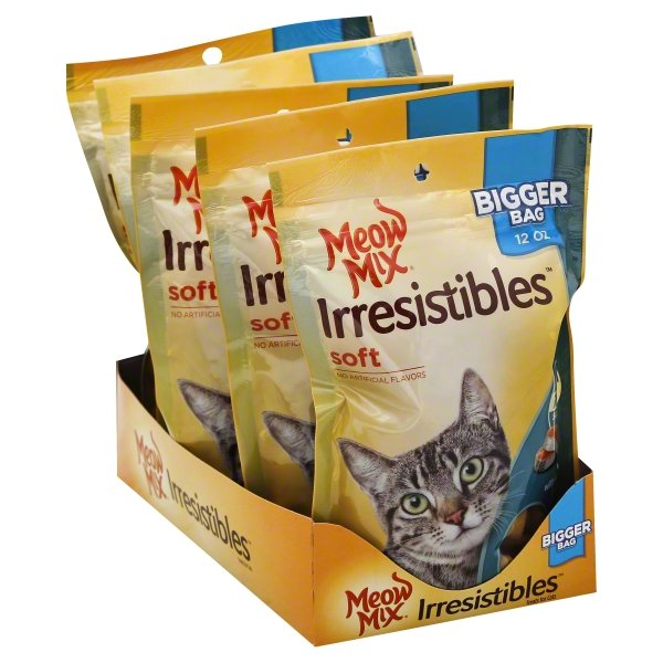 Meow Mix Irresistibles Cat Treats - Soft With Salmon, 12-Ounce Bag
