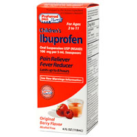 Ibuprofen Child Oral Suspension Pain Reliever Fever Reducer, Berry Flavour For Age 2-11 - 4 Oz