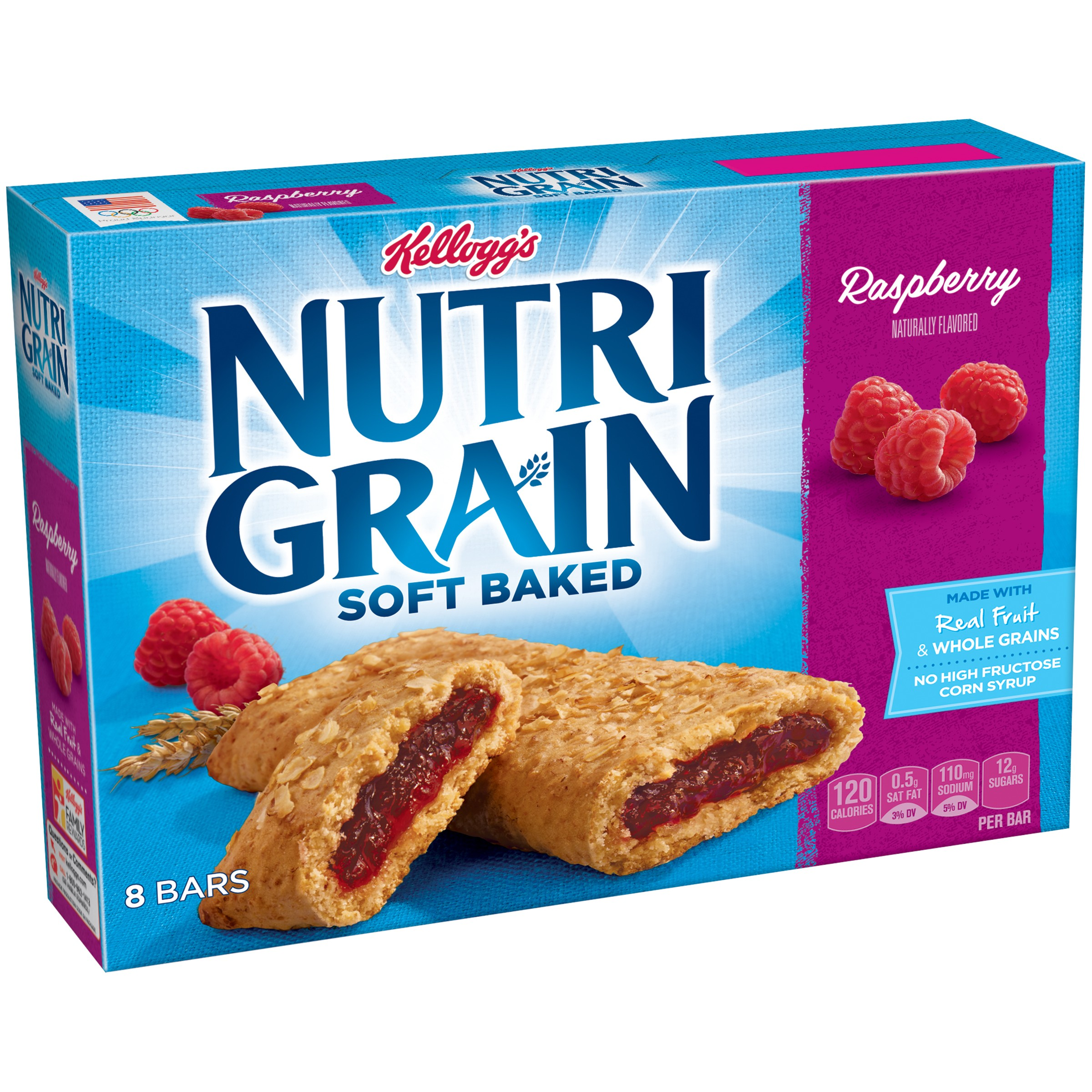Kellogg's Nutri-Grain Soft Baked Raspberry Breakfast Bars 8-1.3 oz. Wrappers