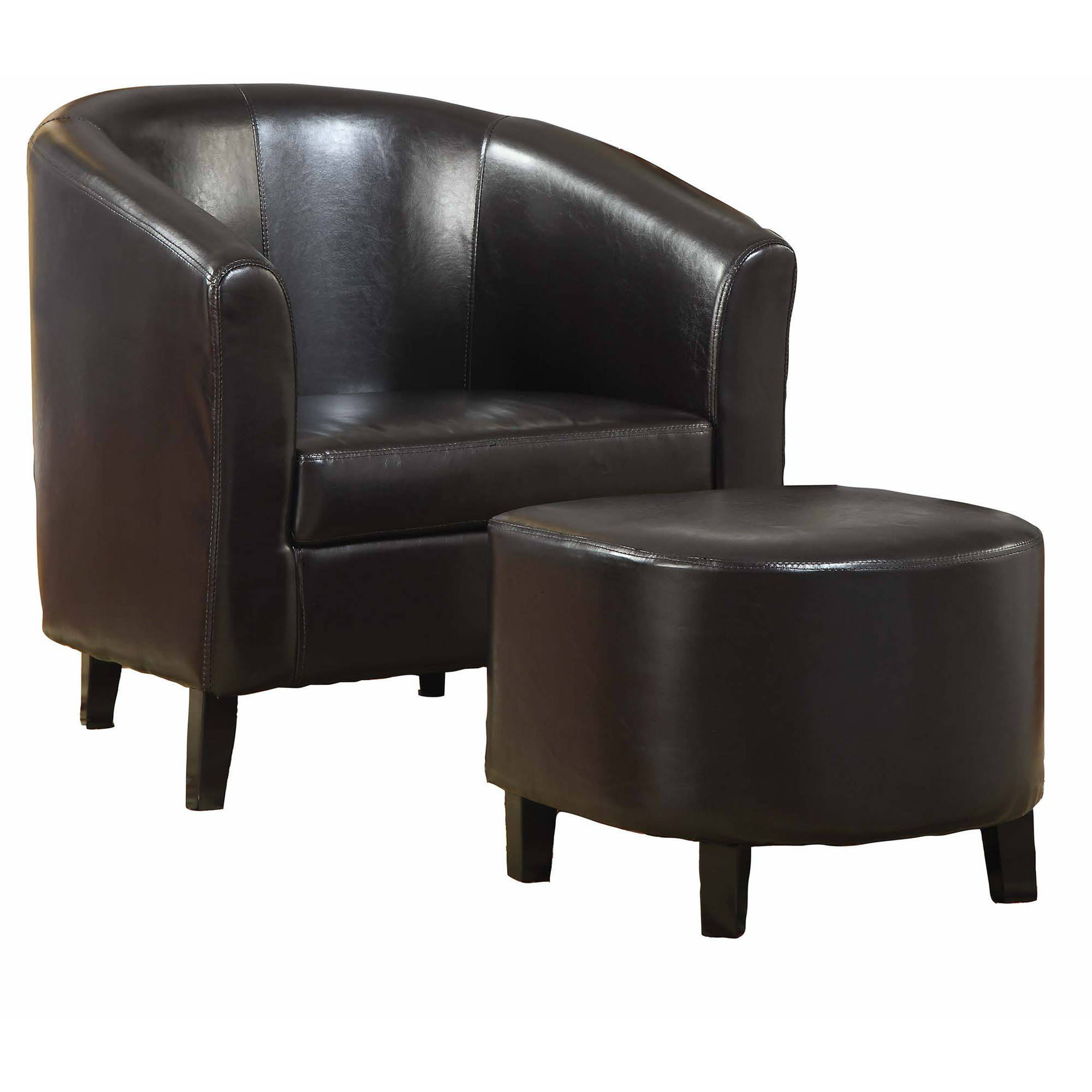 Coaster Company Accent Chair, Dark Brown, Black by Coaster Company