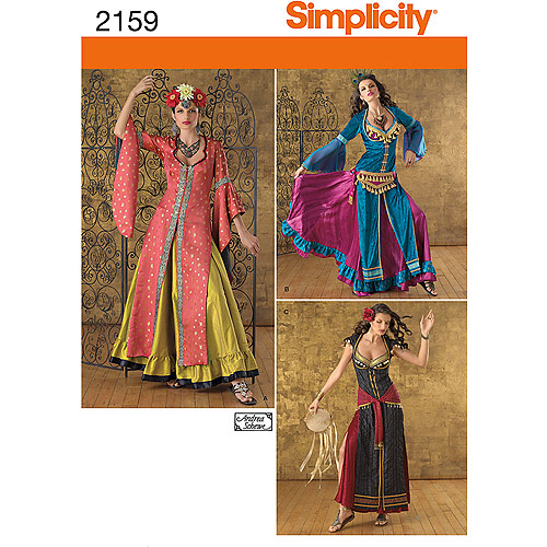Simplicity Pattern Belly Dancer Costumes, (6, 8, 10, 12)