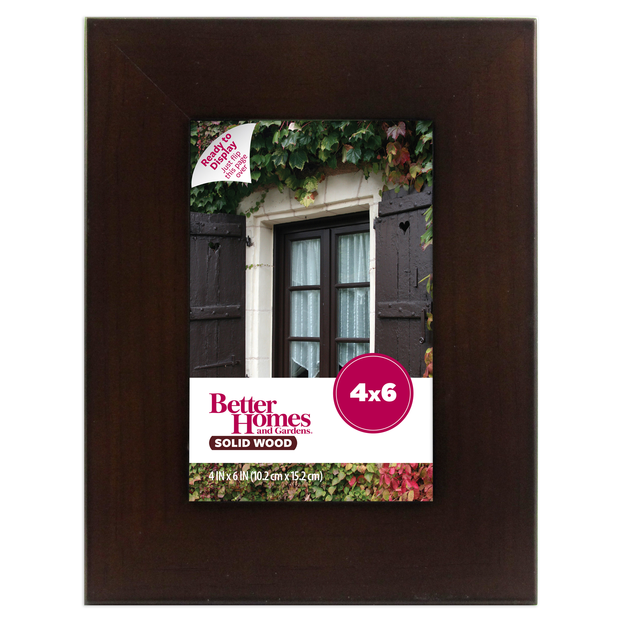 Better Homes and Gardens 4x6 Museum Picture Frame, Mahogany