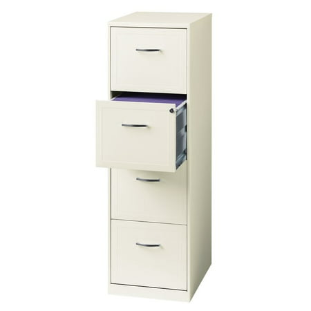 Hirsh SOHO 18 in Deep 4 Drawer Vertical File Cabinet in Pearl White ()