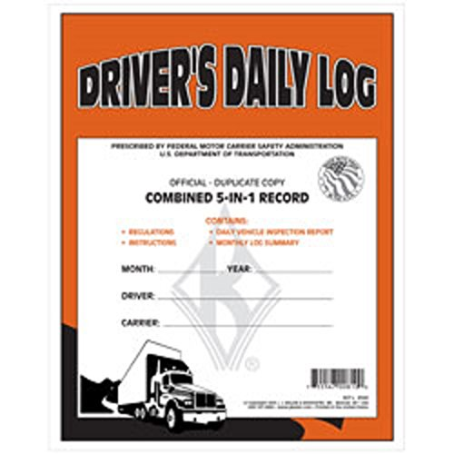 J.J. Keller 5-In-1 Driver's Daily Log Book, Duplicate Carbon, pack of 12 by J.J. Keller