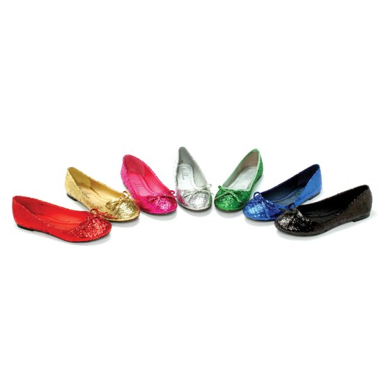 615dde08a2 ELLIE SHOES - Ellie Shoes E-016-Mila-G Adult Glitter Flat With Bow 8 ...