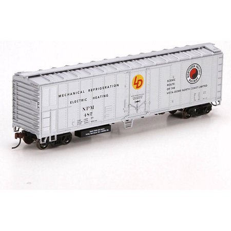 Athearn HO Scale 50' Mechanical Reefer Freight Car - Northern Pacific/NP #487 50' Express Reefer Car