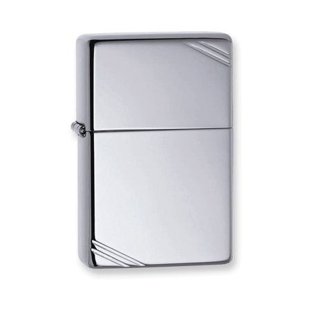 Zippo Vintage w/Slashes High Polish Chrome Lighter
