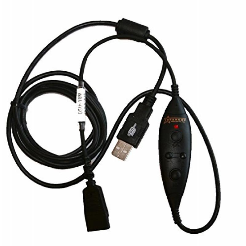 Starkey S135=USB2 Cord for Starkey QD Headsets to USB - for computer use