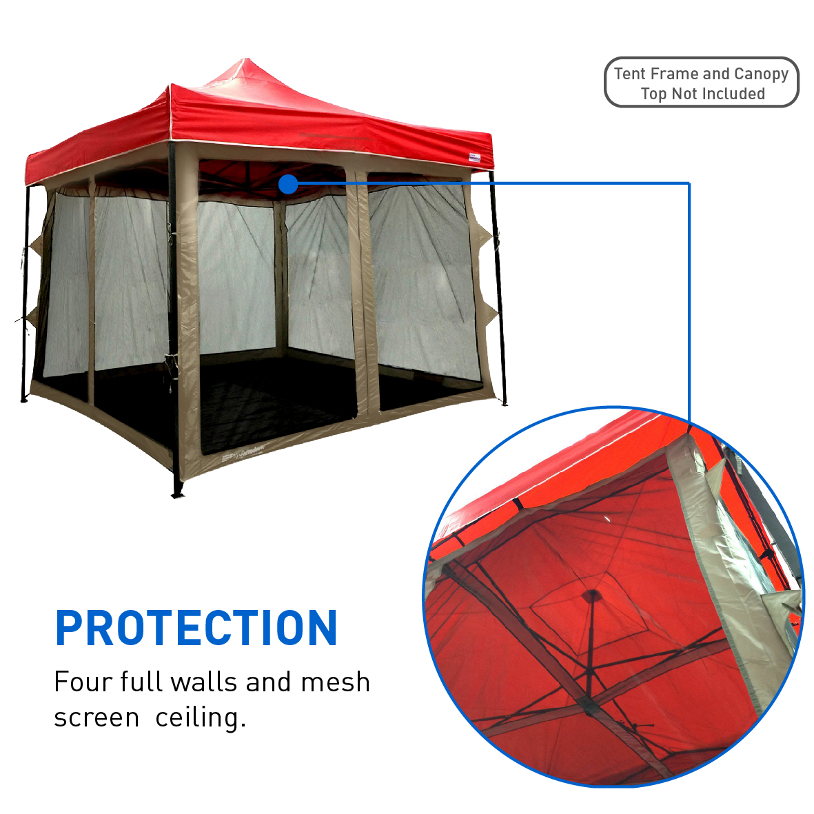 Screen House attaches to any 10u0027x10u0027 Easy Up Screen Tent u2013 4 Walls  sc 1 st  Walmart & Screen House attaches to any 10u0027x10u0027 Easy Up Screen Tent u2013 4 Walls ...