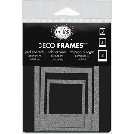Glitter Dust Frame Assortment 10/Pkg-Polaroid Silver - Walmart.com