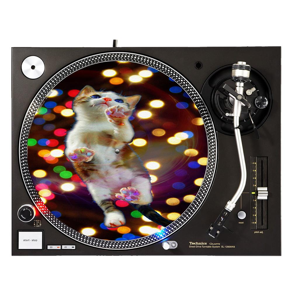 """KuzmarK™ 12"""" DJ Turntable Slipmat - Cat Painting"""
