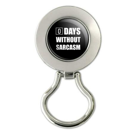 Days Without Sarcasm Equals Zero Funny Magnetic Metal Eyeglass ID Badge (Diy Eyeglasses)