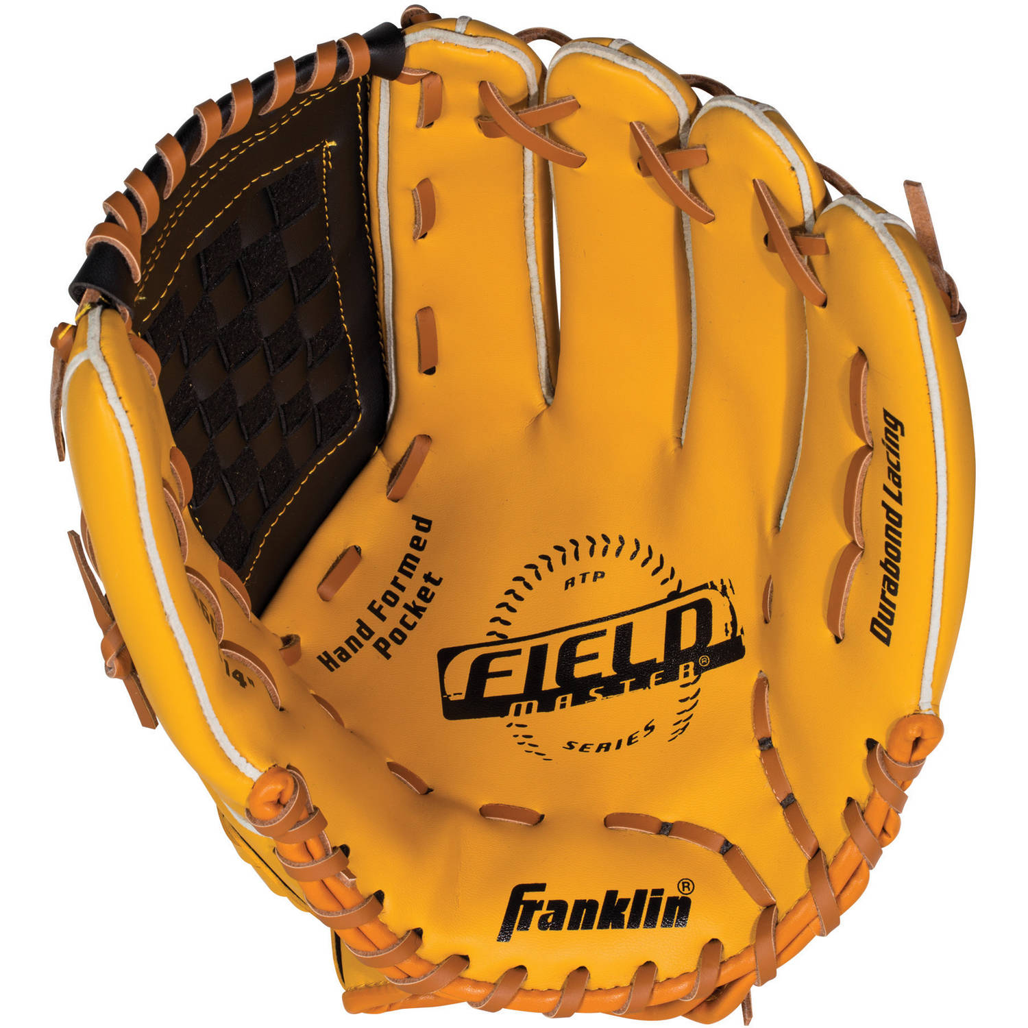 Franklin Unisex Field Master Baseball Glove, Blonde Black by Franklin Sports