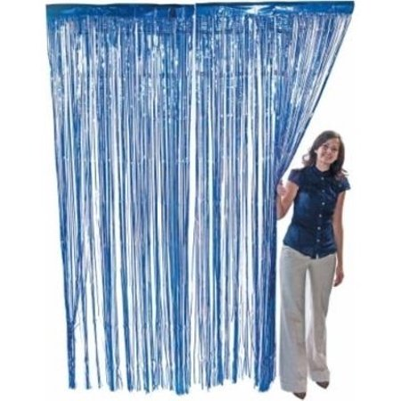 Blue Foil Fringe Curtain –2 Pack 3' X 8' (36