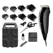 Remington Virtually Indestructible Barbershop Clipper 15-Piece Kit Hair Cut Kit, Black Hc5850A