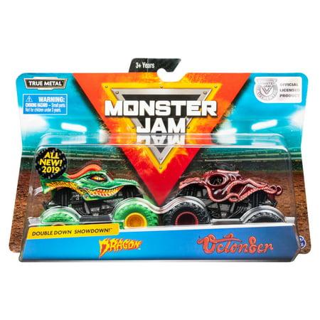 New Monster Truck Jam - Monster Jam, Official Dragon vs. Octon8er Die-Cast Monster Trucks, 1:64 Scale, 2 Pack
