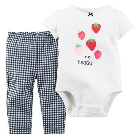 Carters Baby Clothing Outfit Girls 2-Piece Bodysuit & Pant Set So Happy (Best Cheerleading Outfits)