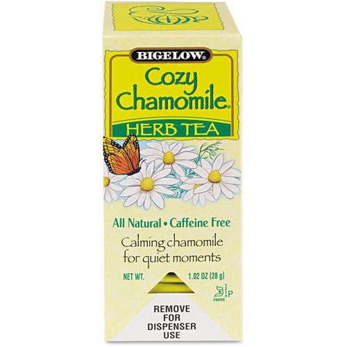 Bigelow Single Serve Cozy Chamomile Herb Tea Bags, 28 count, 1.02 oz