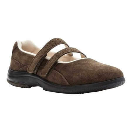 Diabetic Shoe - Propet Twilight Casual Women's A5500 Diabetic Approved Mary Jane - Olive Suede