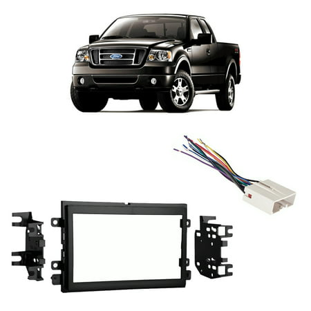9000 Dash Kit (Fits Ford F-150 2004-2006 Double DIN Stereo Harness Radio Install Dash Kit)