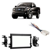 product image fits ford f-150 2004-2006 double din stereo harness radio  install dash kit