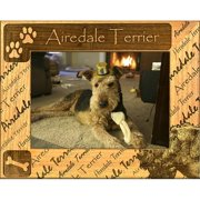 Giftworks Plus DBA0002 Airedale Terrier, Alder Wood Frame, 8 x 10 In