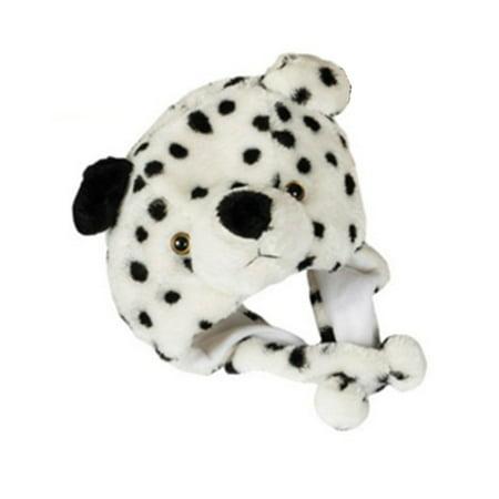 Rhode Island Novelty S Kids Plush Winter Beanie Dalmatian Dog Animal Zoo Hat Costume Accessory