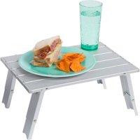 """15.7"""" Compact Folding Beach and Camping Aluminum Table by Trademark Innovations"""