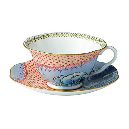 Peony Teacup Set (Wedgwood BUTTERFLY BLOOM TEACUP & SAUCER SET BLUE)