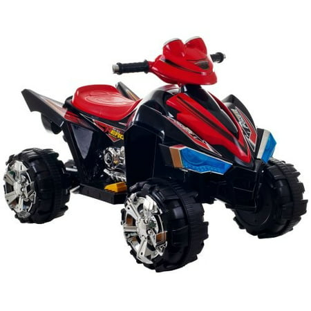 Ride On Toy Quad, Battery Powered Ride On Toy ATV Four Wheeler With Sound Effects by Lil' Rider – Toys for Boys and Girls, 2 - 5 Year Olds (Barbie Lil Quad)
