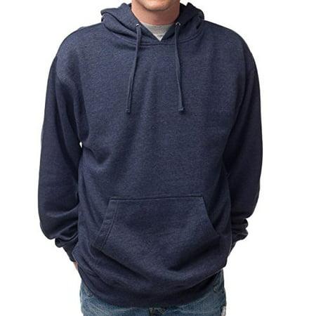 Hanes Men's Pullover EcoSmart Fleece Hooded Sweatshirt (XX-Large, Navy Heather) (White Hollister Sweatshirt)