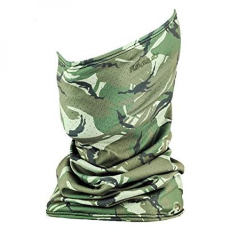 Fishmasks Single Layer Neck Gaiter - Lightweight, Fishing Protection From Sun, Wind And Moisture - Made In USA - UPF 50+ Moisture-Wicking Fabric - Wood Camo ()