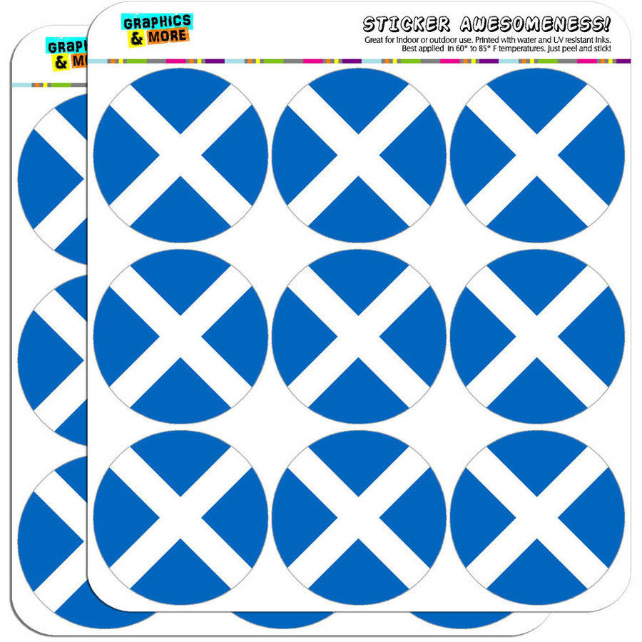"Scotland National Country Flag 18 2"" Planner Calendar Scrapbooking Crafting Stickers"