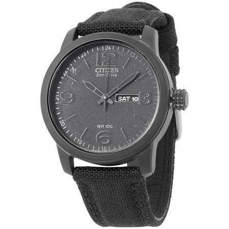 - Citizen Eco Drive Black Dial Canvas Strap Men's Watch BM8475-00F