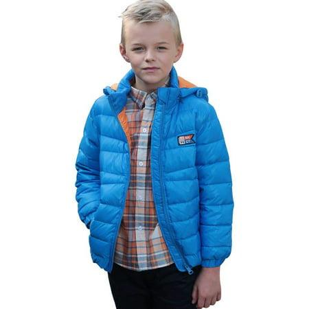 Blue Winter Coat - Leo&Lily Big boys Winter Packable Down Jacket Outwear Coat (Blue, 10)