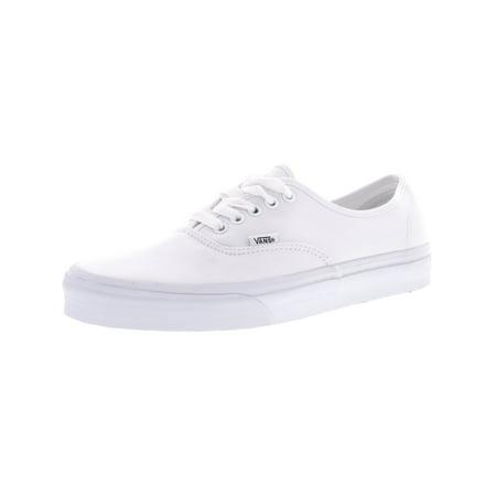 f9cb10d9074f1d Vans Authentic True White Ankle-High Canvas Skateboarding Shoe - 12M    10.5M - Walmart.com