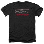 Airwolf Grid Mens Heather Shirt