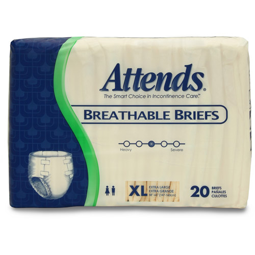 Attends Breathable Extra Large Briefs, 20ct