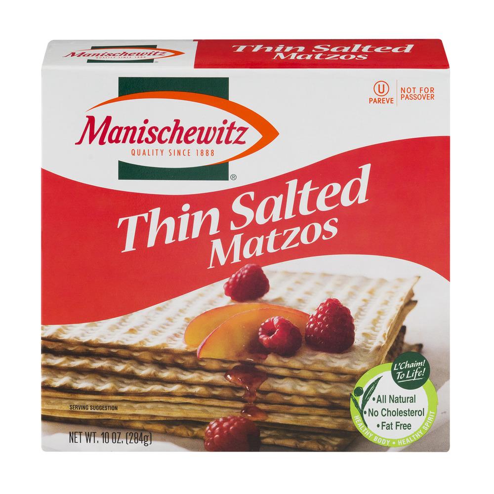Manischewitz Thin Salted Matzos, 10.0 OZ