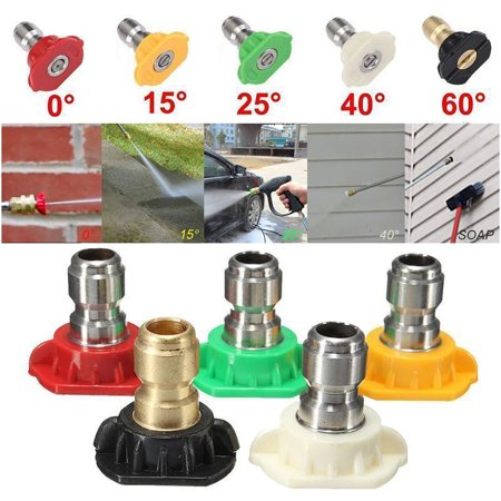 """Image of """"5pcs High Pressure Washer Spray Nozzle Tips Quick Connect 1/4"""""""" Quick Connect"""""""