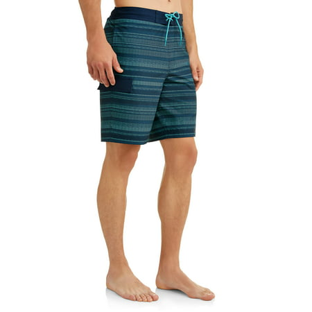 Men's Dotted Stripe 9-Inch Eboard Swim Short, up to size 5XL