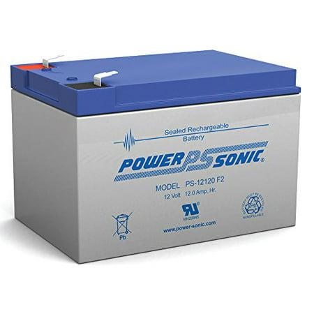 12V 12Ah F2 UPS Battery Replaces Yuasa NP12-12, NP 12-12 .25