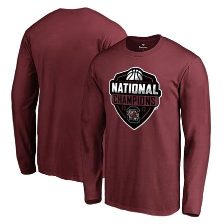 South Carolina Gamecocks Fanatics Branded 2017 NCAA Women's Basketball National Champions Official Logo Long Sleeve T-Shirt - Garnet - South Tampa Halloween 2017