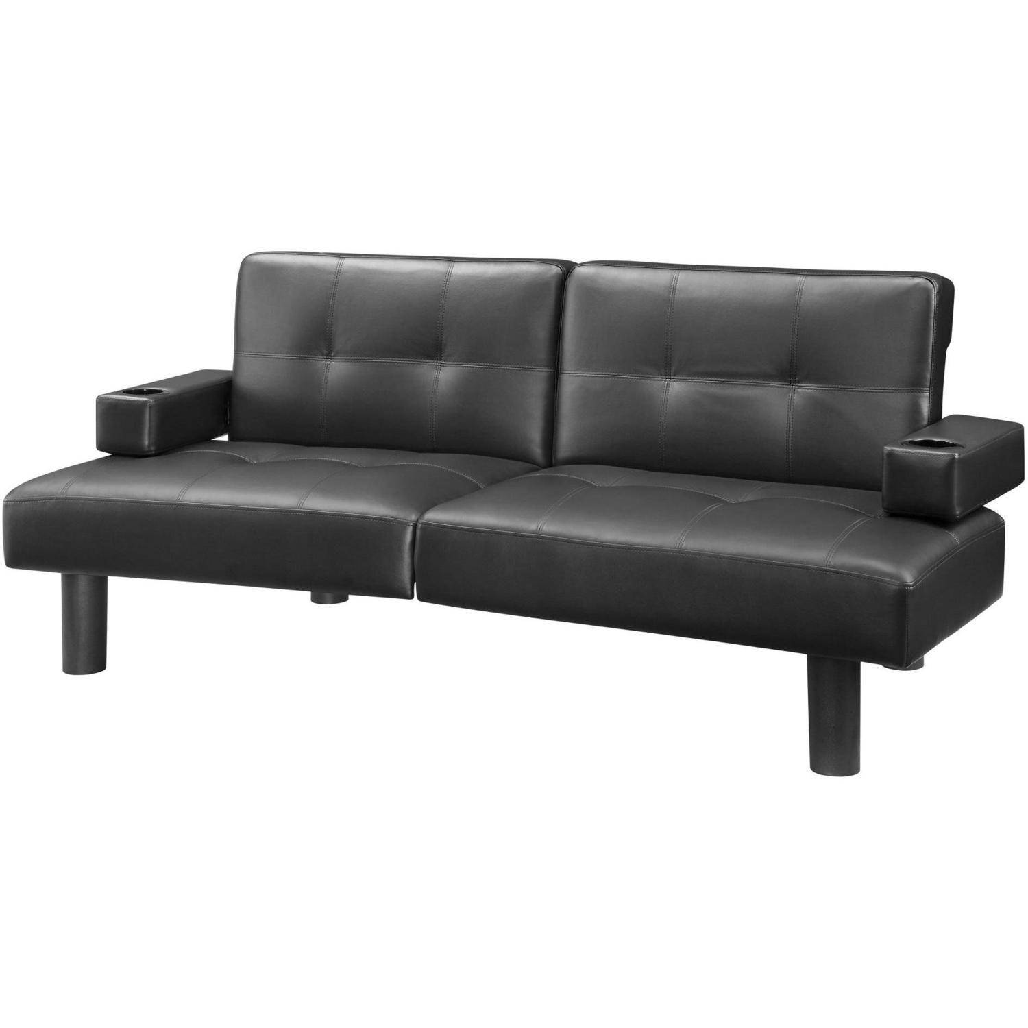 Mainstays Connectrix Faux Leather Futon Multiple Colors Walmartcom