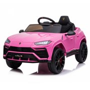 Clearance! Electric Vehicle for Girls Boys, URHOMEPRO Power 4 Wheels Kids Ride on Toy Car, 12 Volt Ride on Cars with Remote Control, 3 Speed, Battery Powered, Lights, Music, Horn, Gifts, Pink, W12700