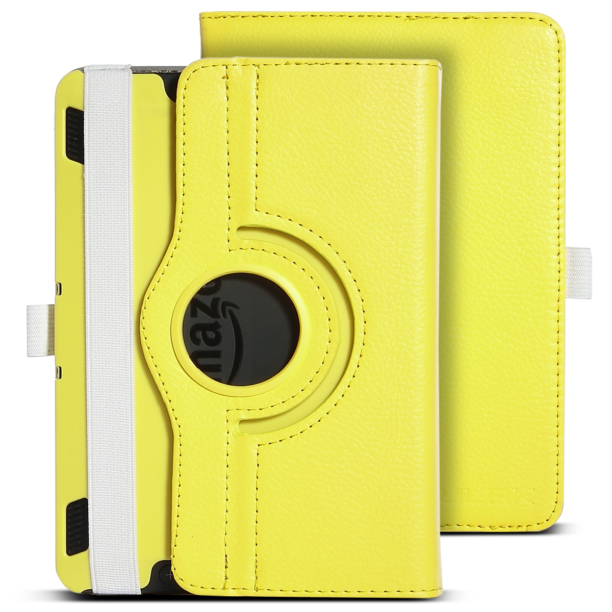 ULAK PU Leather 360 Degree Rotating Stand Case Cover for Amazon Kindle Fire HDX 7 Inch 2013 Release with Auto Sleep/Wake Feature, Grey