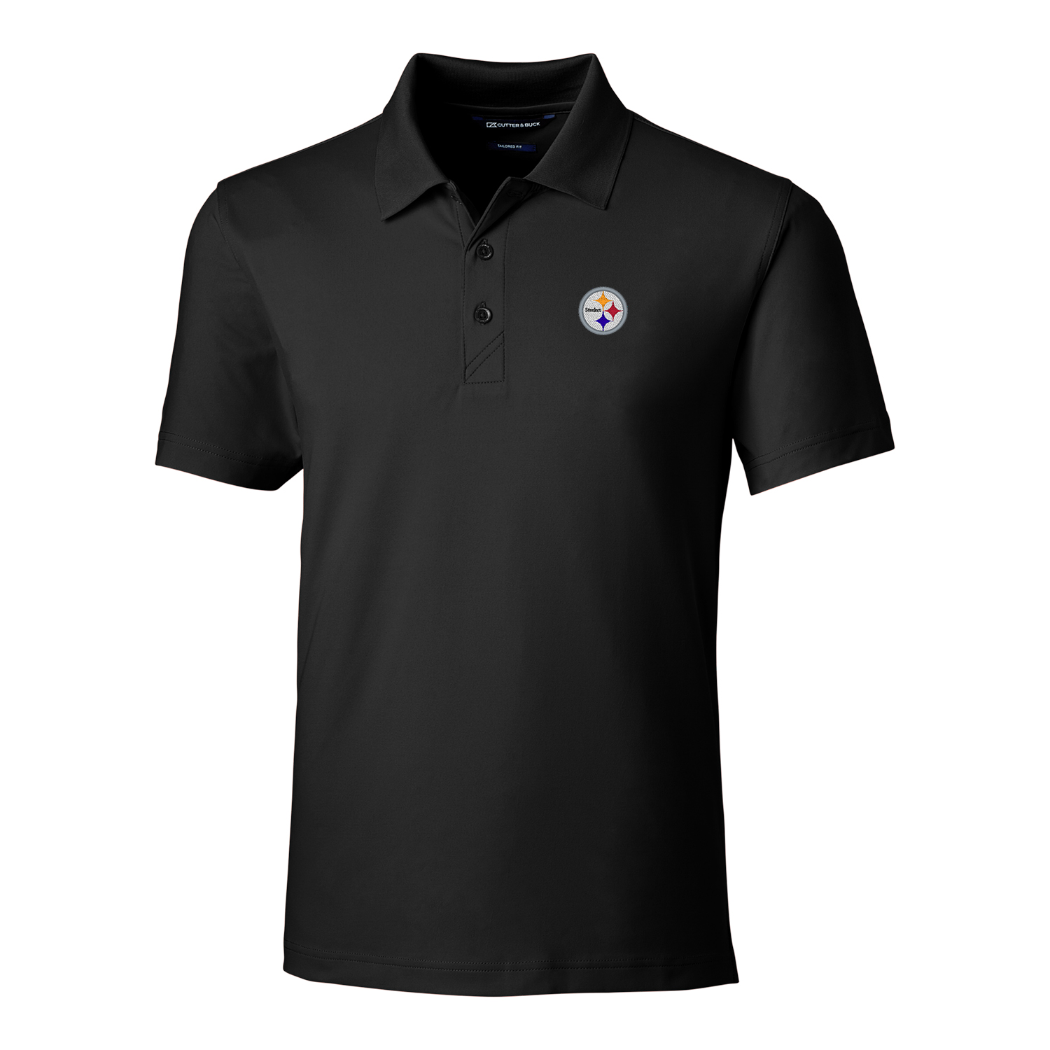 Pittsburgh Steelers Cutter & Buck Forge Tailored Fit Polo - Black