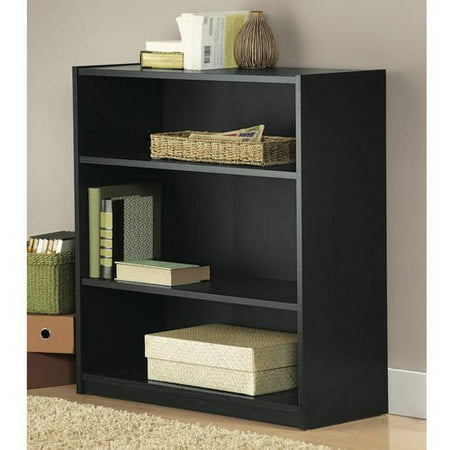 Mainstays 3 Shelf Standard Wood Bookcase Multiple Colors Best Buy